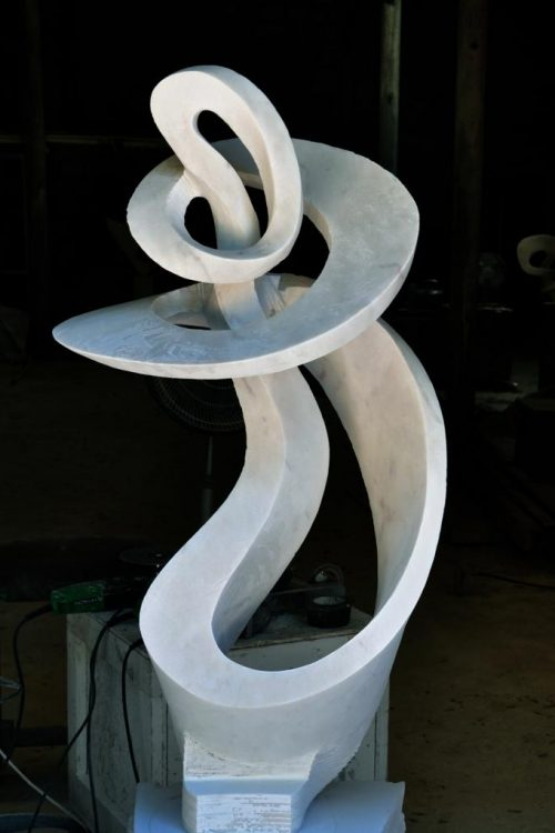 new marble sculpture