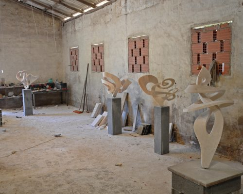 lates sculptures in my studio in Monchique